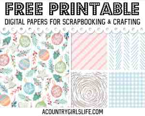 TONS of FREE Digital Paper You'll Want To Use NOW!