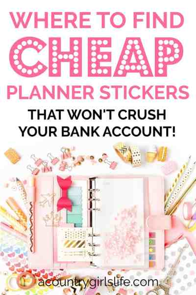 where to buy cheap planner stickers