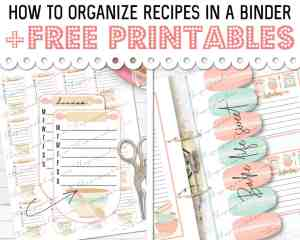 How to Organize Recipes in a Binder + FREE PRINTABLES!