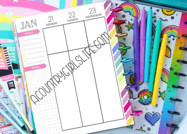 free printable happy planner refill pages for the classic size planner