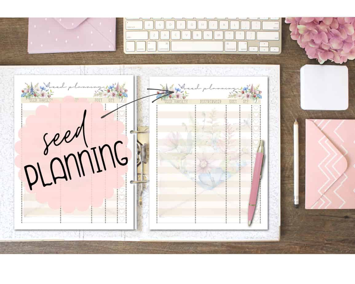 how to make a gardening binder or planner