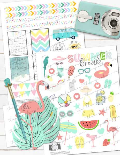 free printable summer vacation planner stickers