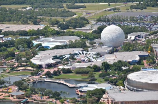 Helicopter over Epcot