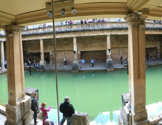 Photos of the Roman baths in bath