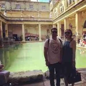 in the Roman baths in the city of Bath