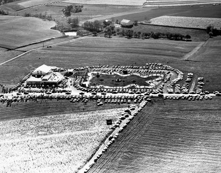 Aerial view from the mid-60's. Photo courtesy of http://www.danaronitzamole.com/