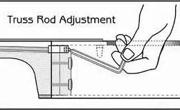 acoustic guitar truss rod adjustment illustration