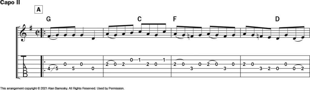 """""""Salt Creek"""" acoustic guitar notation 1"""