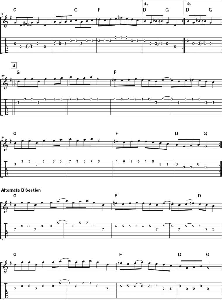 """""""Salt Creek"""" acoustic guitar notation 2"""