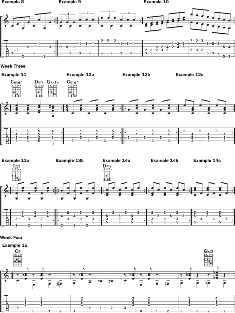 Acoustic Guitar Weekly Workout september-october issue notation 2