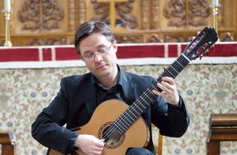 This Is Classical Guitar's Bradford Werner plays guitar with capo at third fret