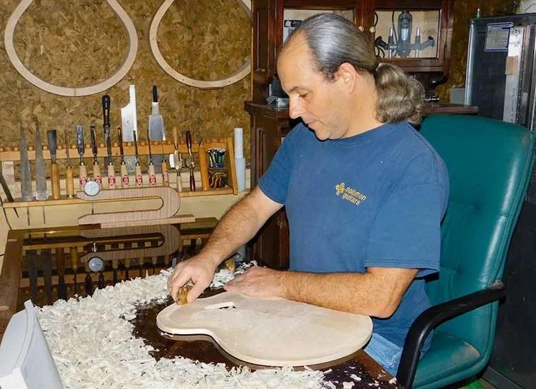 Guitar luthier Erich Solomon