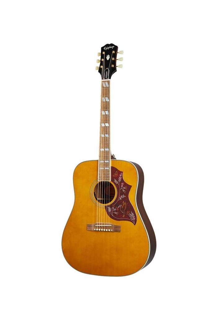 Epiphone Inspired by Gibson Hummingbird natural finish acoustic guitar front