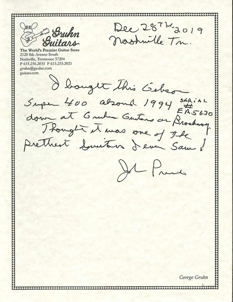 John Prine-Letter