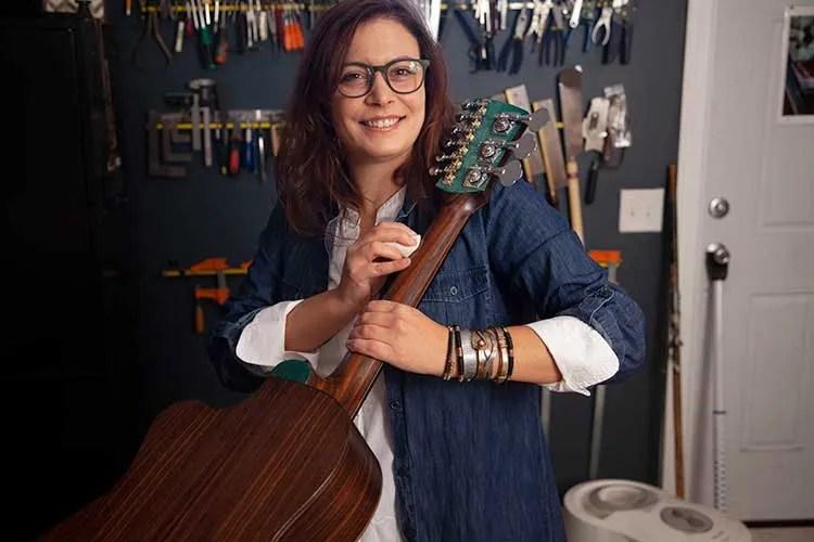 Guitar luthier Rachel Rosenkrantz