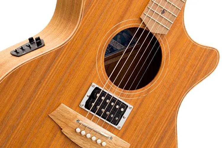 Cole Clark 'Angel' acoustic-electric guitar closeup