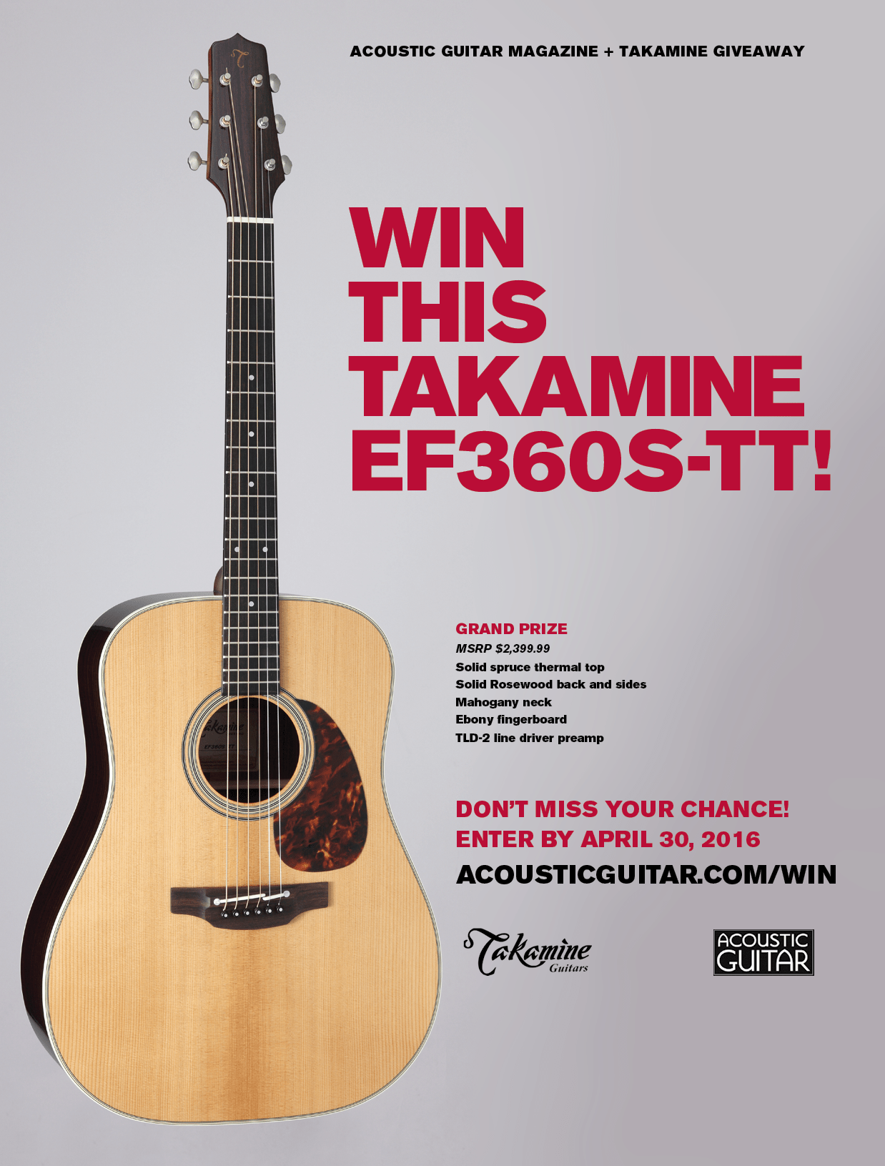 Win This Takamine EF360S-TT! – Acoustic Guitar