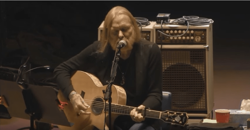 watch gregg allman and scott sharrard cover jackson browne s these days acoustic guitar. Black Bedroom Furniture Sets. Home Design Ideas