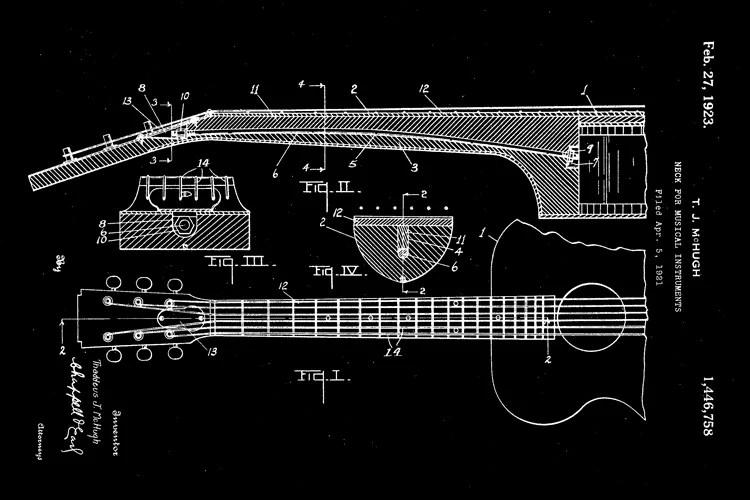 acoustic guitar truss rod blueprint
