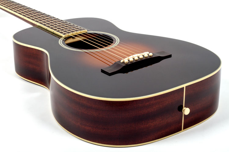 gear review gretsch g9511 style 1 single 0 parlor acoustic guitar. Black Bedroom Furniture Sets. Home Design Ideas