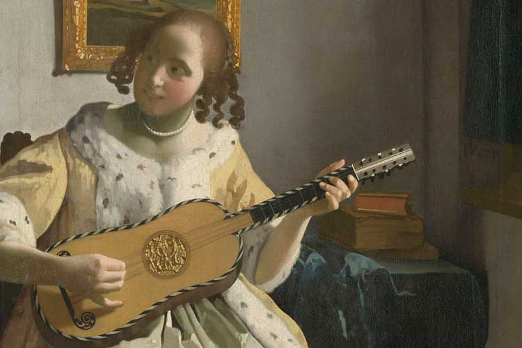 """""""The Guitar Player"""" by Johannes Vermeer, 1672"""