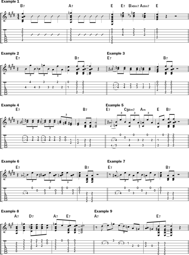 blues turnaround guitar lesson examples pt. 1
