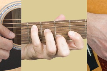 close up of acoustic guitar playing, how to get good tone