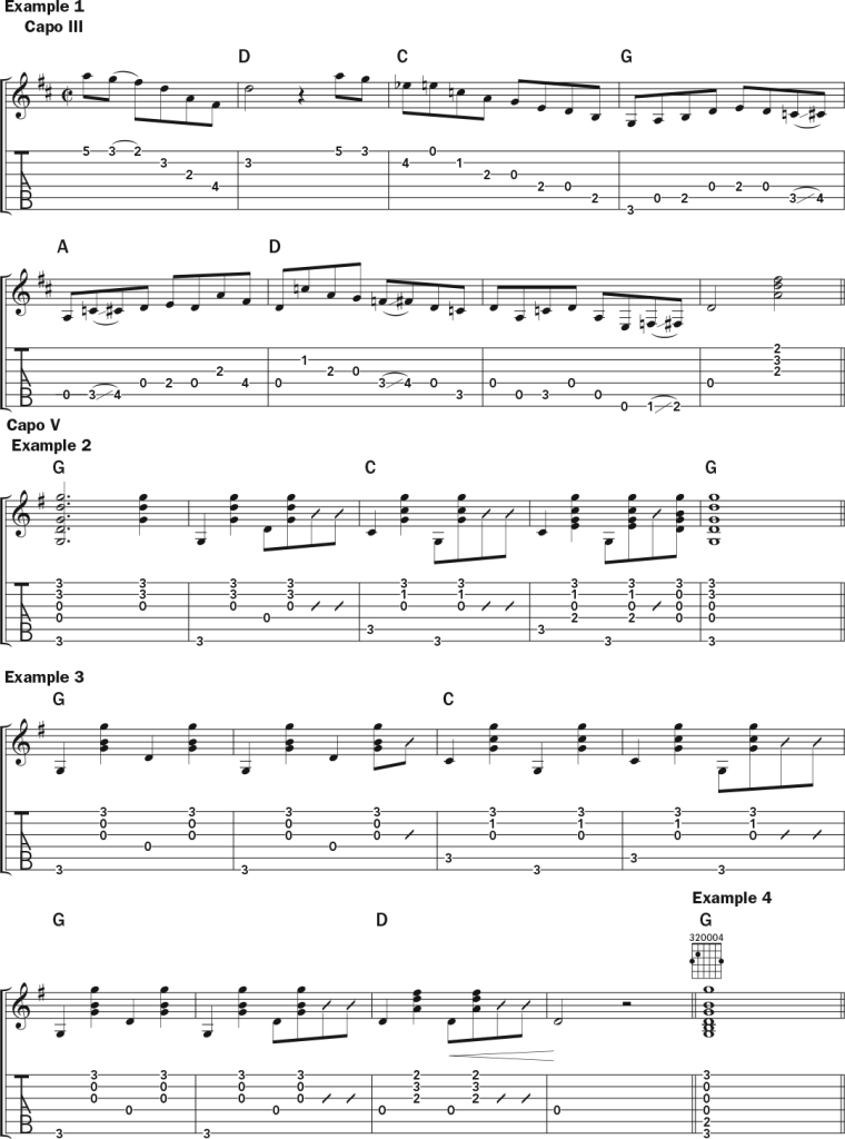 Molly Tuttle Teaches Tony Rice's Distinctive Guitar Style guitar lesson music notation sheet 1