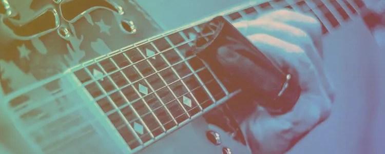 acoustic guitar slide color gradient