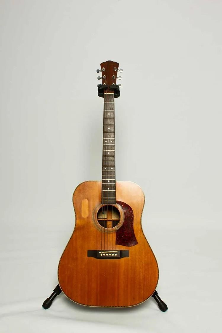 1974 S. L. Mossman Flint Hills Special Dreadnought acoustic guitar