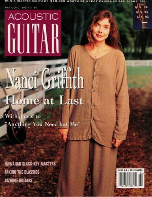 cover of Acoustic Guitar magazine's May/June 1995 issue, featuring singer-songwriter Nanci Griffith