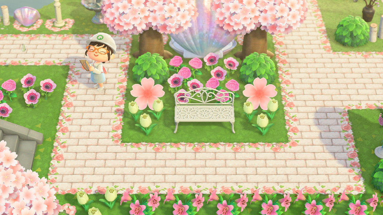 Floral Bordered Brick Path Animal Crossing Pattern Gallery