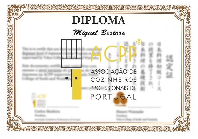 certificado cozinha japonesa