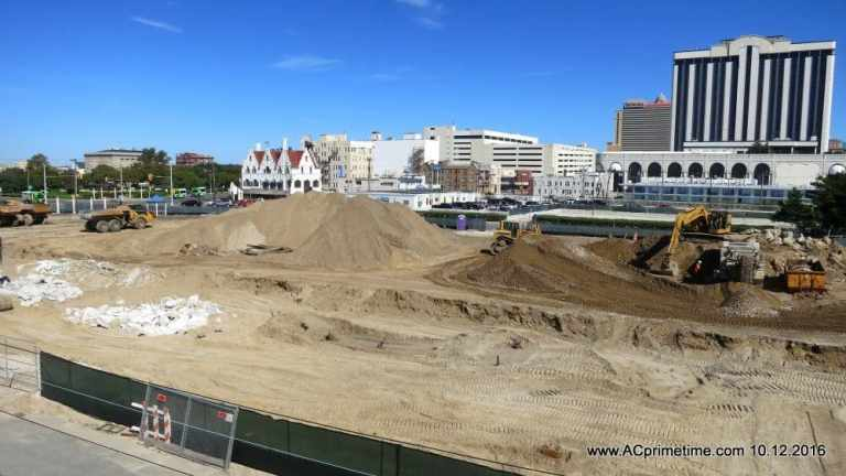 Construction Fast & Furious at Stockton Gateway Project in Atlantic City. VIDEO.