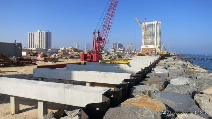 Pictures> Atlantic City Boardwalk Seawall Rebuild UPDATE NOV 2016