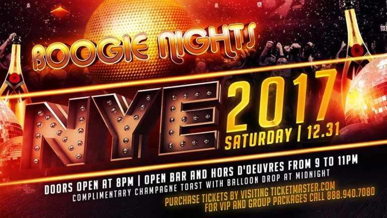 Boogie Nights New Years Eve 2017
