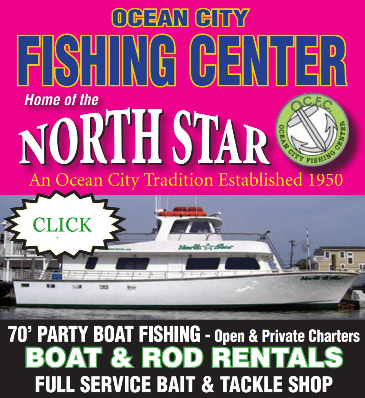 Atlantic City Ocean City Fishing Party Boat