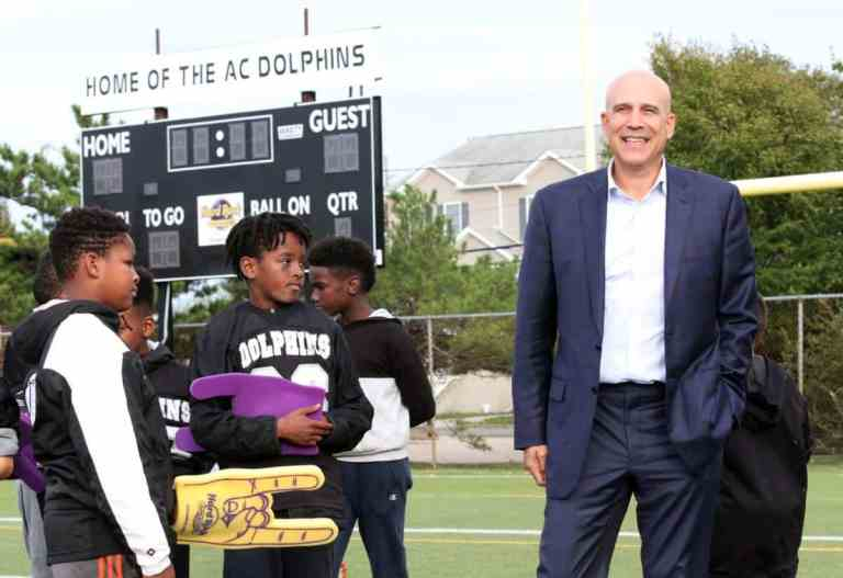 Jingoli & Hard Rock Honored For Football Field Donation