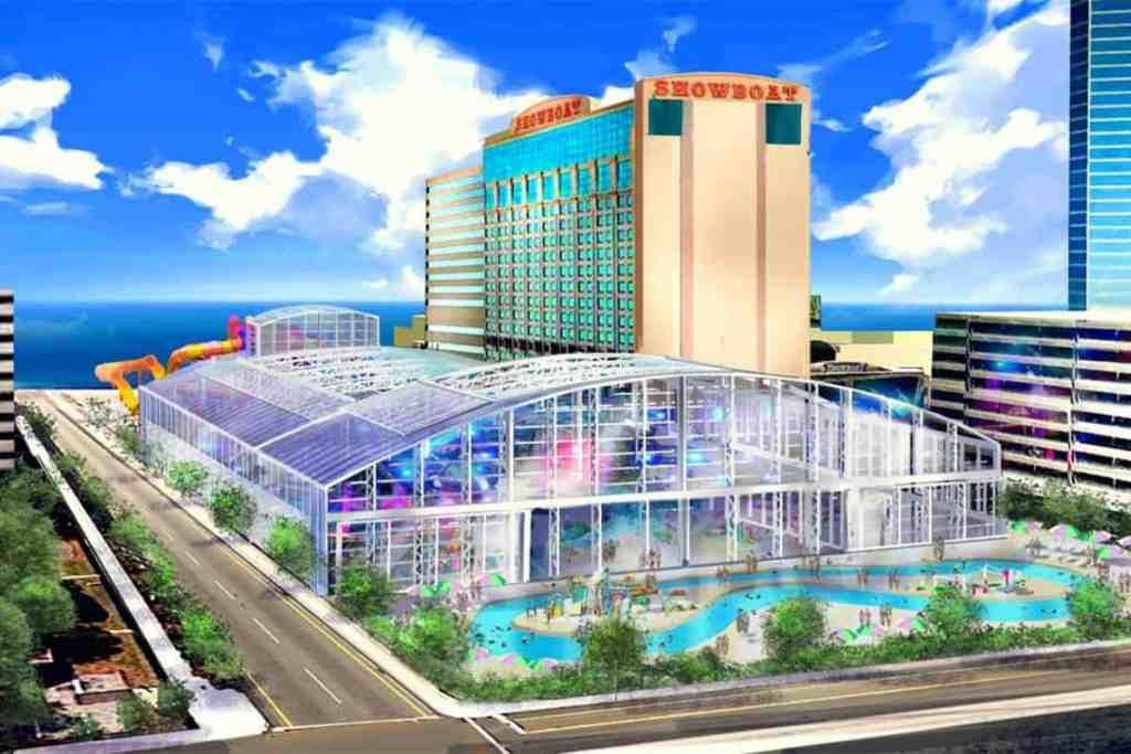 Rendering of waterpark at the Showboat Atlantic City.