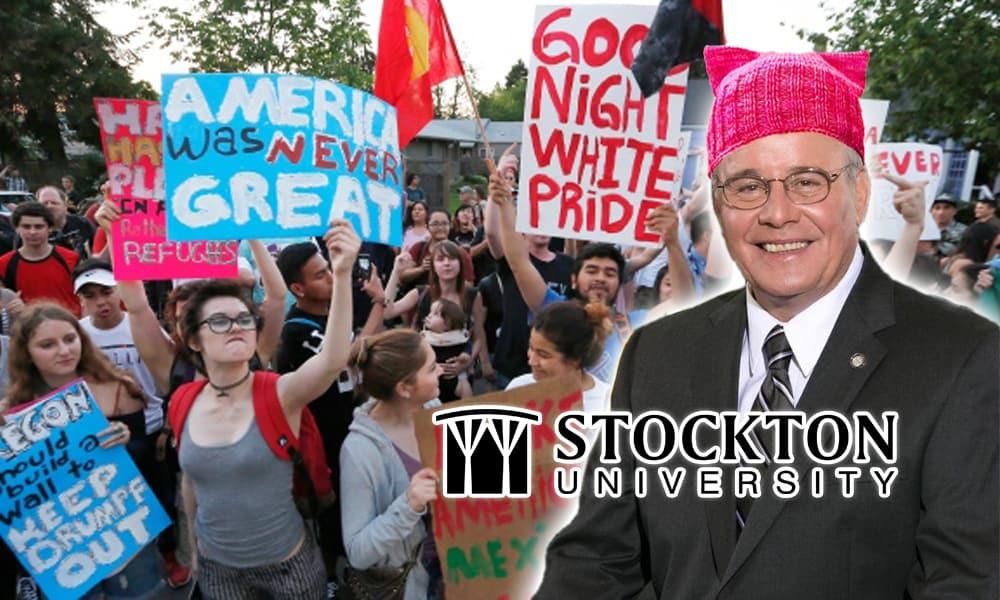 Harvey Kesselman: White, Cis-Gender Male President of Stockton. Racism. LGBTQ.