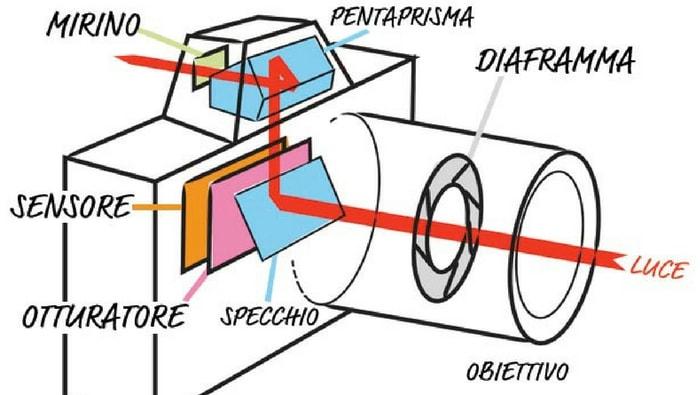 anatomia di una reflex