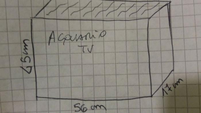 misure acquario TV