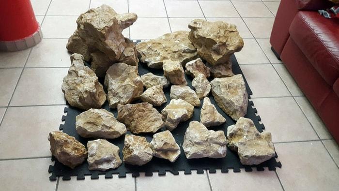 rocce su tappetino