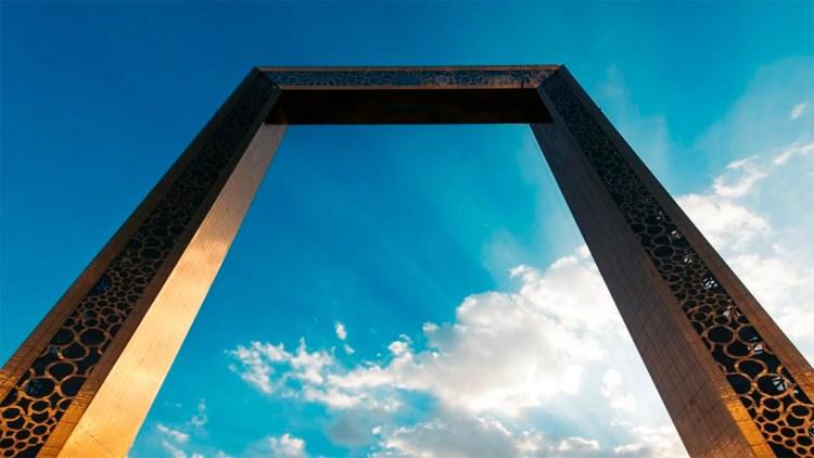 Blue sky seen from the Dubai Frame