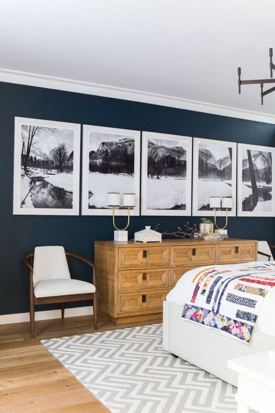 13 Gorgeous Master Bedrooms With Dark Walls Home Improvement