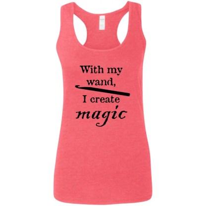 Crochet hook magic wand softstyle racerback tank