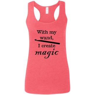 Crochet hook magic wand softstyle racerback tank