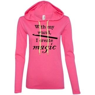 Crochet magic wand long sleeve T-Shirt hoodie