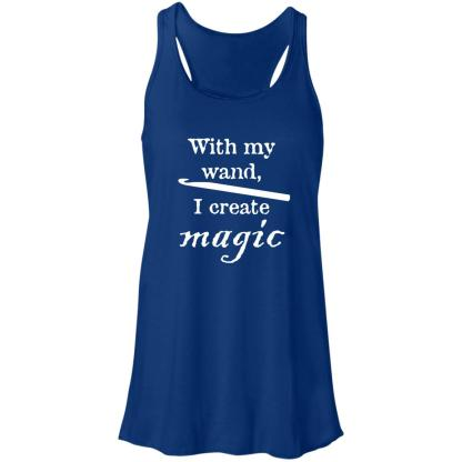 Crochet hook magic wand flowy racerback tank