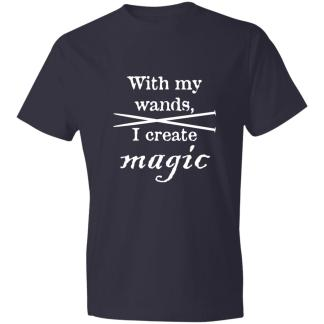 Knitting needles magic wands lightweight 4.5 oz t-shirt
